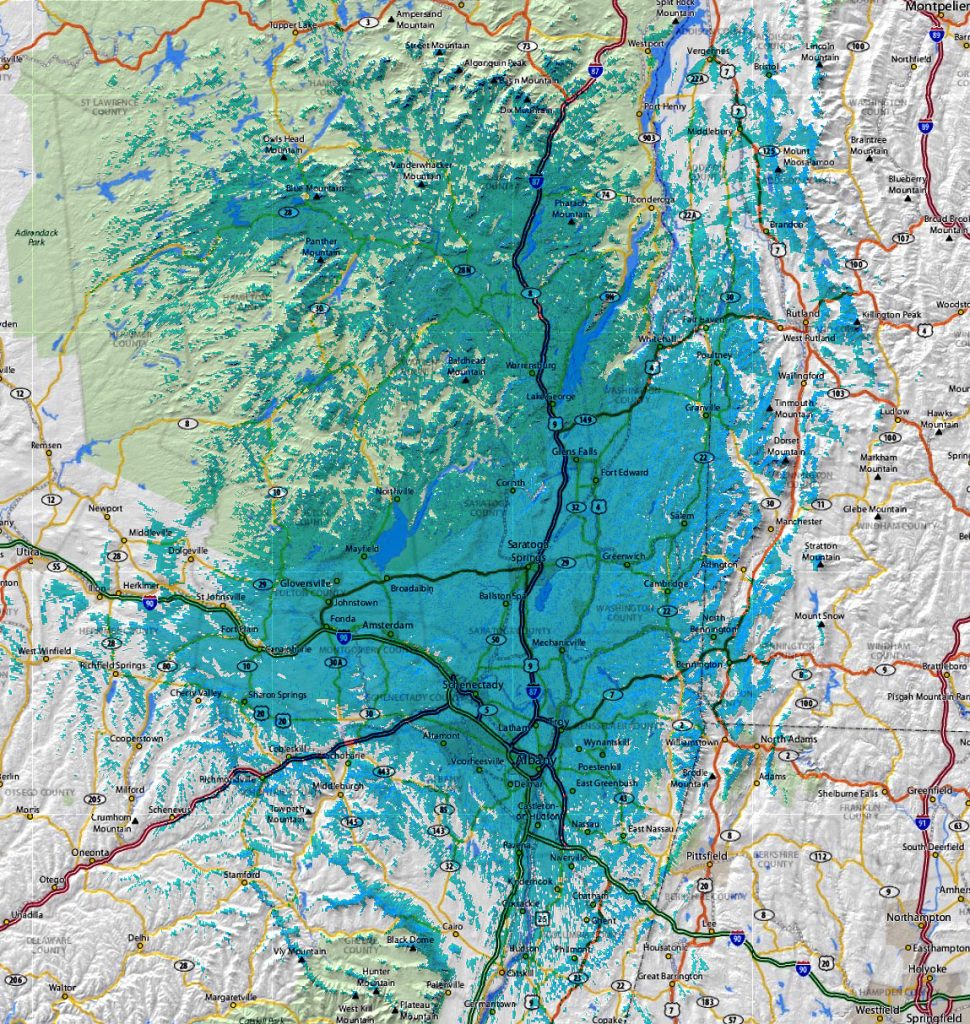 Approximate Mobile Coverage Spring 2015